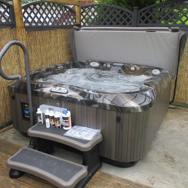 Jacuzzi hot tub with water treatment products