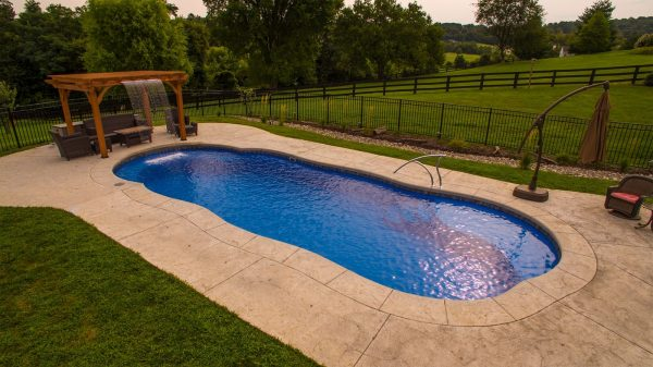 River In-ground swimming pool